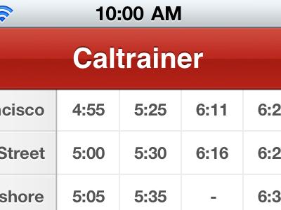 Caltrainer caltrainer caltrain iphone app