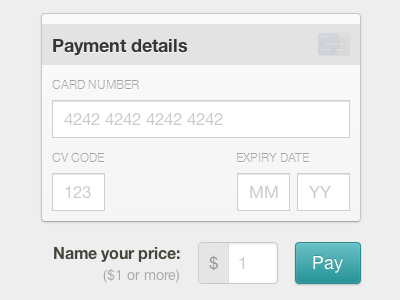 Name your price. gumroad price checkout card credit