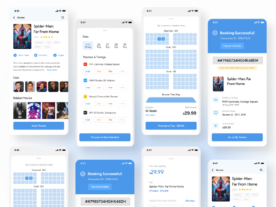 Movie Tickets Booking - App UI UX Design
