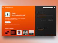 Google Play Music - Desktop UI Concept Designing