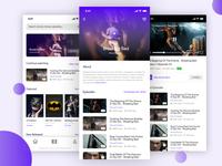 Video Streaming iOS App - Concept