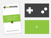 playWinnipeg Business Cards