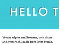 Double Dare says Hello