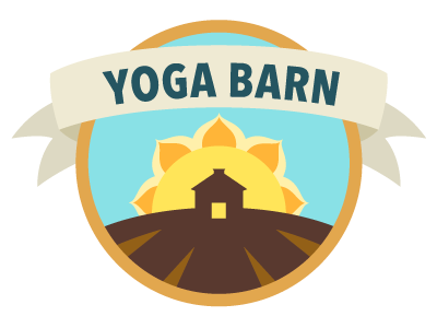 Yoga Barn Sunrise sticker