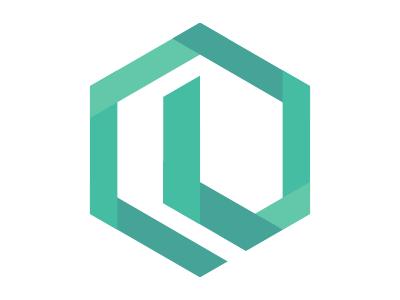 L Mark logo hexagon flat isometric l