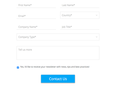 Minimal Hubspot Integration forms hubspot