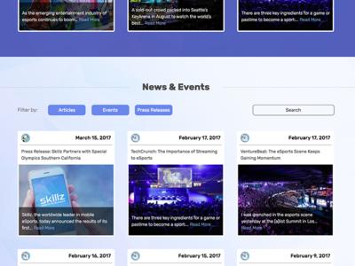 Skillz News Filtering