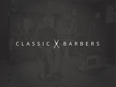 Clasic Barbers Logo classic barbers logo modern clippers scissors