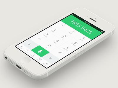 Apple Phone Flat UI Design apple flat ui phone app green