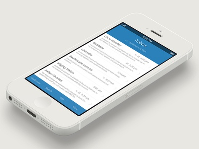 Apple Mail App Flat UI image flat ui flat apple ui design mail app