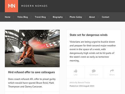 Blog Website modern flat ui orange dark blog