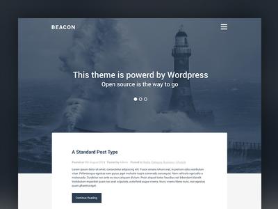 Beacon Wordpress Theme theme wordpress beacon blue website design responsive