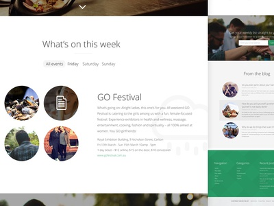 Event Site green events design website