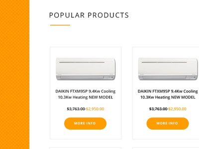 Aircon Site websites orange melbourne design