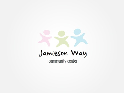 Jamieson Way Logo Concept pink green blue logo community soft colours