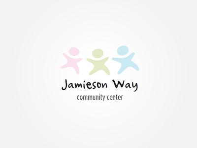 Jamieson Way Logo Concept pink green blue logo community soft colours