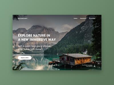 A Concept - Landingspage sketch concept landing page website design web design minimal screen digital ui design