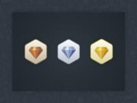 Metallic Gem Badges