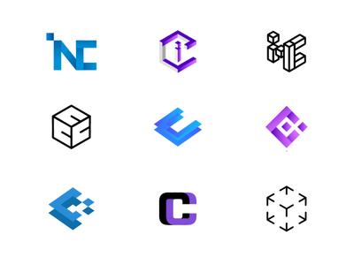 Logo set for inCrypto co.