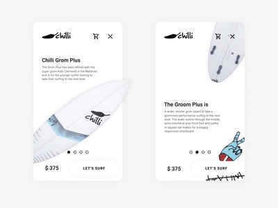 iOS app for Chilli Surfboards