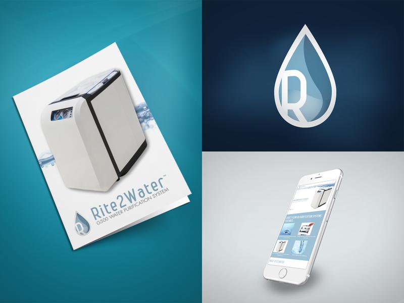 Rite2Water Branding print logo illustration design branding