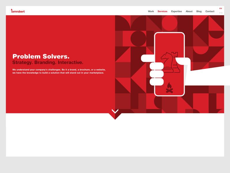 Services iamrobert - All website flat illustration ui design