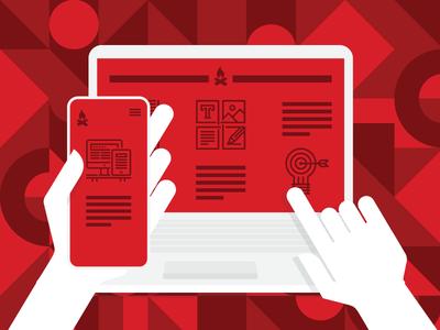 Responsive Web Design (RWD) Illustration
