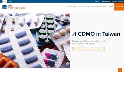 Bora Pharmaceuticals Taiwan Header typography ux branding website web ui design