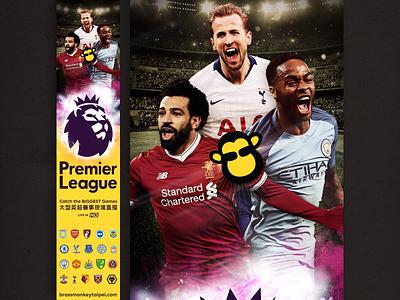 Premier League Banner soccer football artwork epl premier league illustration branding banner design