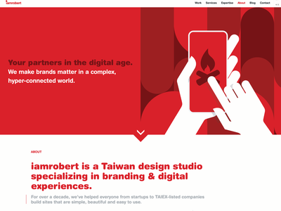 about page | iamrobert agency about agency landing page agency website