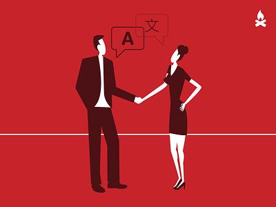 We are international agency website flat design flat vector website illustration web design