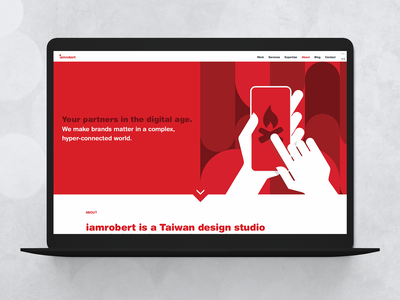 about page | agency website | iamrobert  - v2 illustration ux branding agency about agency website website flat ui web design