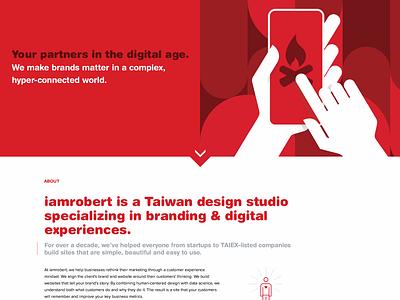 web design agency | about page full width | v3 web flat ui ux agency website website design