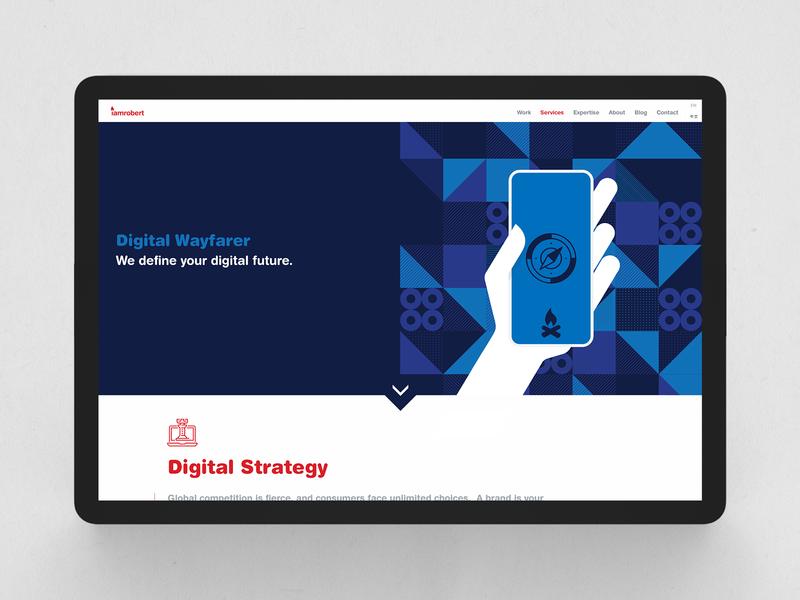 Strategy Page | Agency Website | iamrobert website strategy agency website ux ui web design