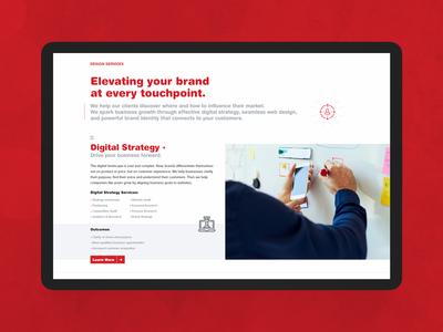 Digital Services Landing Page