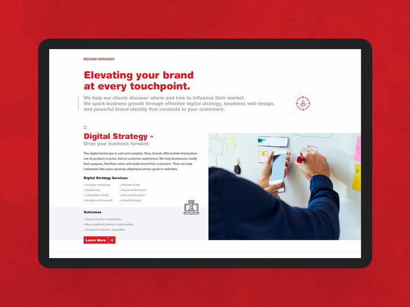 Digital Services Landing Page agency website web design agency web design company ui design web