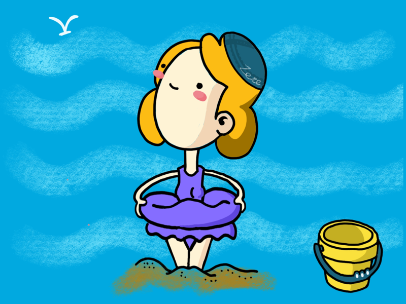 my swimming ring illustration