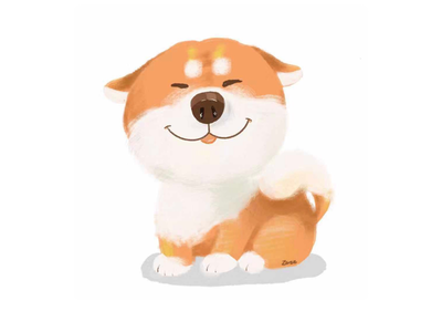 Lovely doggy illustration animal dog