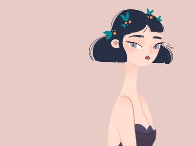 I'm back! girl practice ipad procreate illustration character