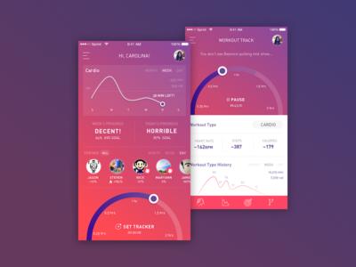 Fitness Tracker App UI