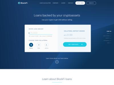 Blockfi New Homepage