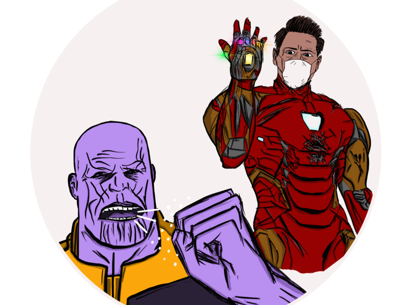 This is what real SUPERHEROES do... artwork art comics ironman thanos awareness superheroes covid-19 virus ipadpro illustration
