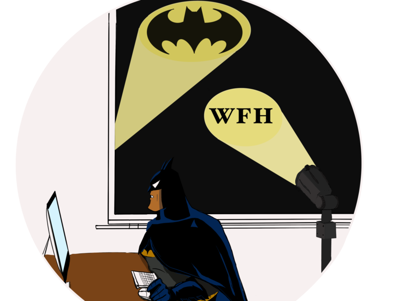 Batman WFH #3 from project - This is what real SUPERHEROES do… workfromhome wfh batman virus superheroes comics ipadpro artwork covid-19 illustration
