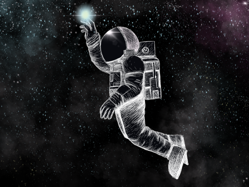 #3, The One with the Spacewalk david.ist ipadpro spacewalk space drawing art fantasyart illustraion