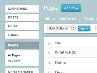 WordPress Dashboard Reskin v2