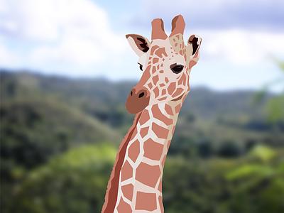 Vexel Giraffe vexel giraffe animal jungle photoshop vector trees