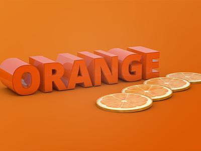 Orange orange c4d cinema 4d fruit render