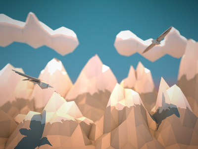 Low Poly Mountains low poly mountain c4d cinema 4d render simple