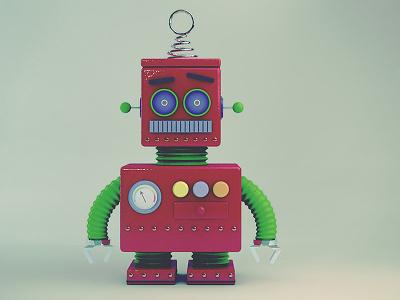Toy Robot robot cinema 4d c4d render retro toy