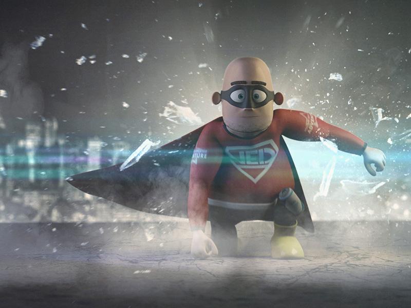 Very Experienced Dad - Superman Pose superman character 3d modo model render hero superhero